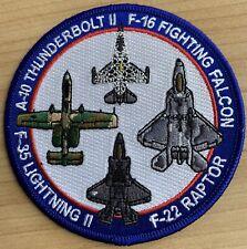 Patch USAF Demo Team F-22 Raptor F-16 Viper A-10 Thunderbolt F-35 Lightning II