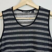 [ COUNTRY ROAD ] Womens Textured Stripe Print Tank / Top | Size S or AU 10