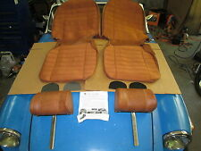 New Seat Covers Upholstery MGB 1973-80 + Headrests Autumn Leaf 1/2 Cloth Made UK