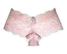 Victoria's Secret Womens Pale Pink Floral Lace Boy Shorts 11068780 Size M/m