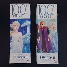 Disney Frozen II 100 pc Jigsaw Puzzles Lot of 2 Age 6+ Olaf Elsa New Sealed