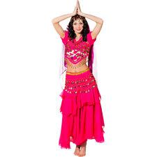 Orientalisches Bauchtanzkostüm - pink - Bollywood Karnevalskostüm