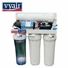 4 Stage RO DIReverse Osmosis Water Filter Aquarium System Pumped 100GPD