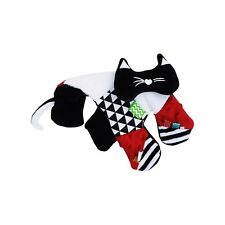 Nice Cat rustling baby first soft toy hand made newborn gift contrast activity