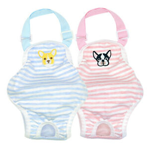 Cotton Pet Dog Sanitary Pants Suspenders Female Girl Nappy Diaper French Bulldog