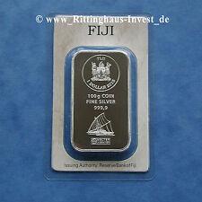 Lingot d'argent de pièces d'argent 100 Grammes 100 g Fidji Argor-Heraeus 2015 1$