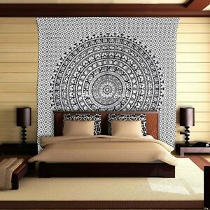 Double Single Tapestry Wall Hanging Indian Hippie Bohemian Bedding Gypsy Throw