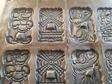 ancien grand moule a chocolat professionnel mold metal  42,5 cm x 27,5 cm
