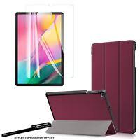 Coque Smart Bordeaux pour Samsung Galaxy Tab A 10.1 2019 T510 + Verre trempé