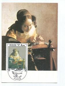 Karte Maximum Bild Vermeer La Spitzenklöpplerin 1982