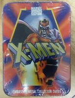 1996 X-MEN - 5 EMBOSSED METAL CARDS - COLLECTORS TIN
