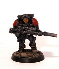Blood Angels Scout with Sniper Rifle, Warhammer 40K Space Marines Painted Metal
