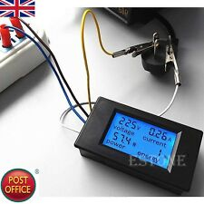 Hot New AC 80-260V LCD Digital 20A Volt Watt Power Meter Ammeter Voltmeter