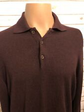 Giorgiolini Mens Sweater SZ L Merino Wool Button Hipster Mr. Rogers Fall Career