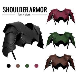 Medieval Shoulder Armor Gladiator Samurai Battle Knight Pauldrons Costume NEW