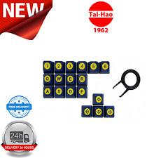 Tai-Hao ABS Double Shot Keycaps Poker 18 Key Set Blue/Yellow KEY0068