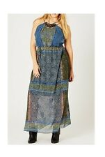 City Chic Spirit Maxi Dress Blue 16