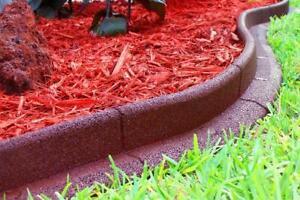 No Dig Landscape Edging 24 Ft Garden Lawn Flexible Reusable Border 6 Pack Red