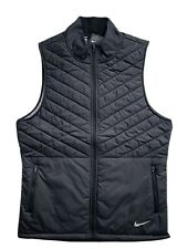 NIKE Mens AeroLayer Thermal Insulated Running Vest Full Zip Black $80 NWT M L XL