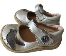 EUC Girls Shoes Livie & Luca Pio Pio Silver Gray Toddler 4