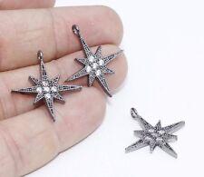 1 Pcs Star, Zirconia North Star, Micro Pave Star Pendant, North Star ZRCN367