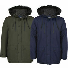 Funnel Neck Long Parkas Regular Size Coats & Jackets for Men