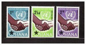 S16270) Ghana MNH 1958 One Day 3v