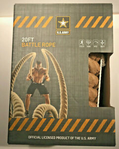 US Army 20 Foot Battle Rope - Fitness Workout Cardio Endurance - New in Package