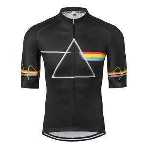 Men's Short Sleeve Cycling Jersey Tops Coolmax Bike Cycle Jersey Shirt Black
