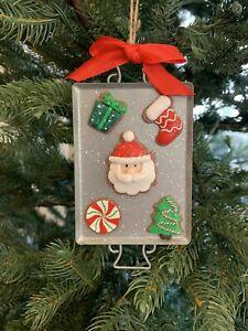 Pottery Barn Sugar Cookie Santa Christmas Ornament Decor Stocking Tree