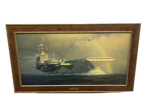 William S. Phillips Out Of The Squall Line Giclee Canvas Signed /100 USS Truman