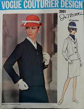 Vtg 60s FF Vogue Couturier Design 2001 Jo Mattli Suit: Jacket & Skirt Bust 32.5