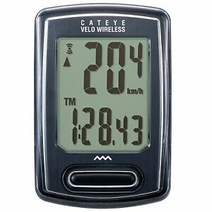 Cateye Velo Wireless Cycling/Bike Computer/Speedometer/Distance/Timer In Black