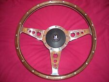"TRIUMPH STAG 14"" WOOD RIM STEERING WHEEL AND BOSS  MOTO-LITA  DISHED HOLES"