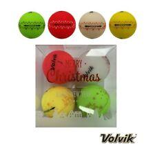4 VOLVIK VIVID MERRY CHRISTMAS MATT GOLF BALLS.
