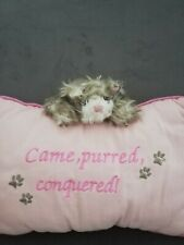 Cat Kitten Plush Cushion Came Purred Contoured pink home decor decoration