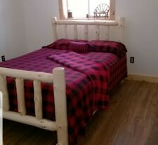 Log Bed special! Log cabin Rustic Log Bed! Log Furniture for your home or Cabin!