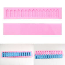 Silicone Picket Fence Stockade Cake Chocolate Mold Mould Baking Decorating Tool