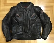 RST TracTech Leather Motorcycle Jacket Size Uk48 EUR58. CE Armoured & Race Hump.