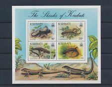 LM80479 Kiribati animals fauna flora reptiles good sheet MNH