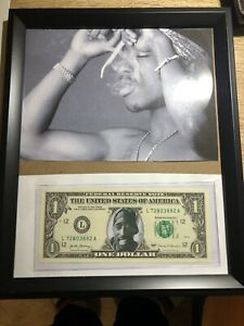 Banknote 💵 UNITED STATES 🇺🇸- $1.00 Note Tupac Photo Framed