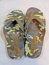 Boys Thong Flip Flops Size Large 9-10 Coppertone Camouflage Camo Rubber Sandals