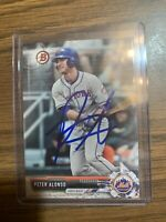 2017 Bowman Draft Pete Alonso Auto Signed ROY ROOKIE OF THE YEAR !