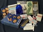 LOT: Vintage Medical Home Remedy 1st Aid Supplies & Red Cross Bandages & Booklet