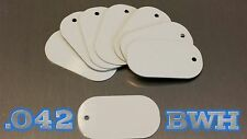 .042 *SUPER THICK* White Aluminum Dye Sublimation Dog Tag Blanks - Lot of 25