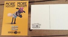 Aardman Animation Wallace & Gromit Shaun the Sheep promotional postcard 2012 new