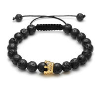 Handmade Natural Lava Stone Bead Essential Oil Diffuser Adjustable Bracelet NSL7