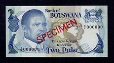 BOTSWANA  SPECIMEN 2 PULA ( 1982 )  PICK # 7s1  VF.