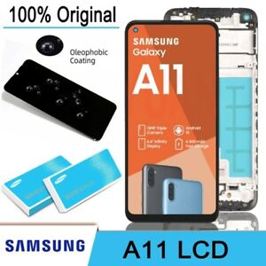 Service Pack A¹¹『SAMSUNG A11』Display LCD + Screen With Frame 💯 Original icHD+