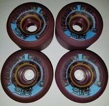 California Pro Skateboard 4 Wheels 61m Nos Skateboarding Vtg Skate Plum Purple